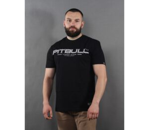T-SHIRT PITBULL BEDSCRIPT BLACK