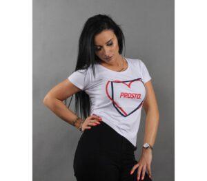 T-SHIRT DAMSKI PROSTO HEART WHITE