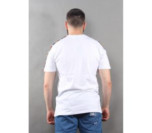 T-SHIRT NEW BAD LINE TAPE WHITE