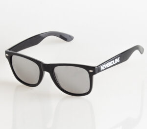 OKULARY CLASSIC BLACK FLASH SILVER MIRROR 028