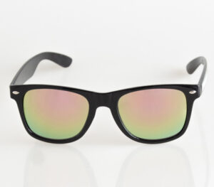 OKULARY CLASSIC BLACK FLASH YELLOW-PINK MIRROR 030