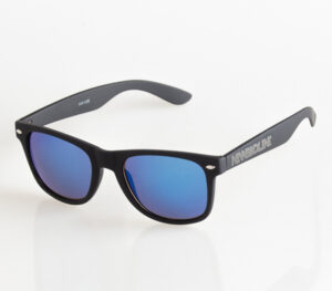 OKULARY CLASSIC BLACK RUBBER BLUE MIRROR 041