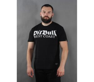 T-SHIRT PITBULL OLD LOGO BLA…