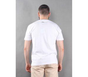 T-SHIRT PITBULL SMALL LOGO WHITE