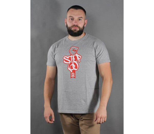 T-SHIRT STOP KONFIDENTOM 60 PIĘŚĆ GREY