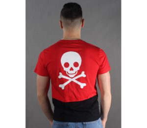 T-SHIRT KAMIKAZE COLLAGE 2 TONE RED
